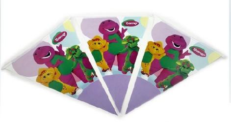 Barney Paper Flag Banner