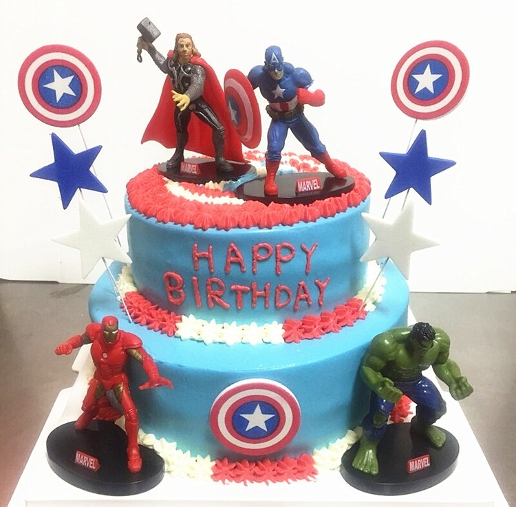 Avengers Figures Cake Topper Set 4pcs