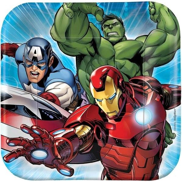 Avengers 7in Cake Plates 8pcs