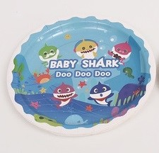 Babyshark 7in plates 8pcs per pack