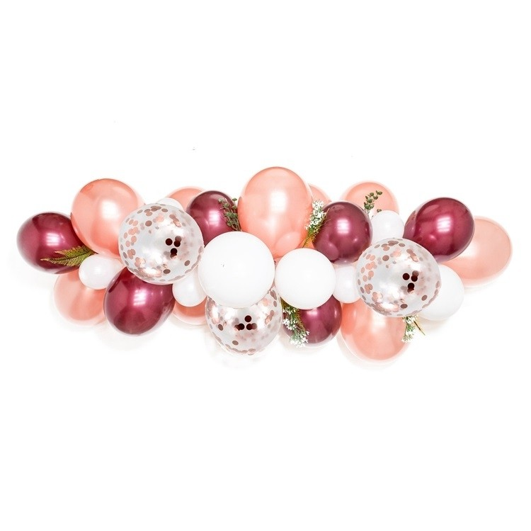 12in Pearl Wine Red Balloon Chain Set