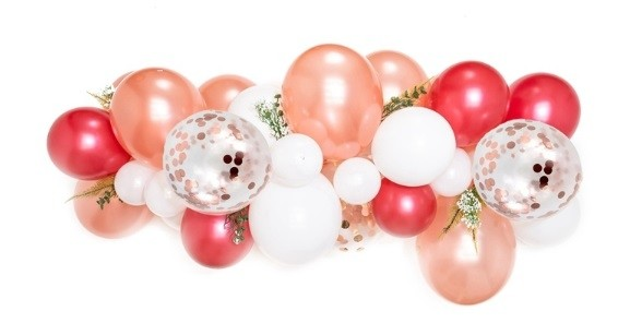 12in Pearl Red Balloon Chain Set