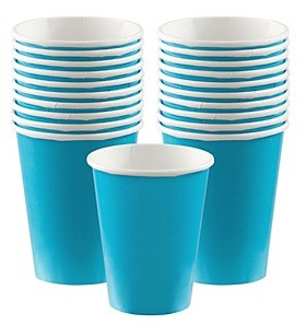 Blue Paper Cups 20pcs