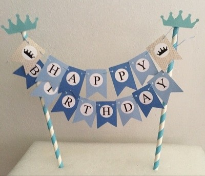 blue happy birthday cake banner disney cars licensed collections