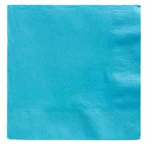 Blue Beverage Napkins 25pcs