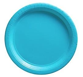Blue Paper Dessert Plates 25pcs