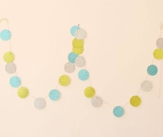 EVA blue glittering round garland