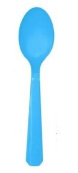 Blue Premium Plastic Spoons 25pcs