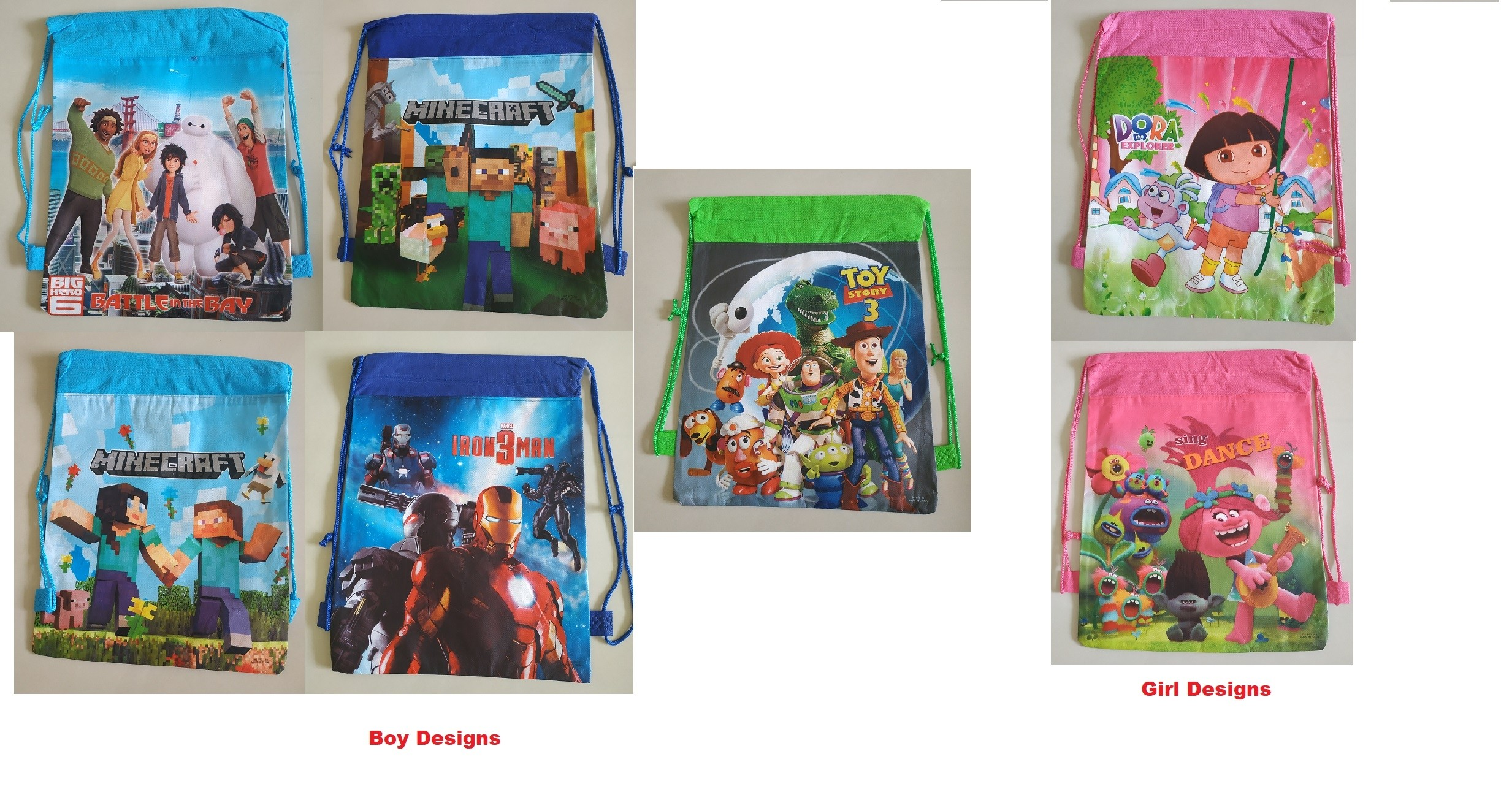 Boy/ Girls Designs Drawstring Bag