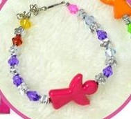 Plastic Crystal Bracelet 6pcs per pack