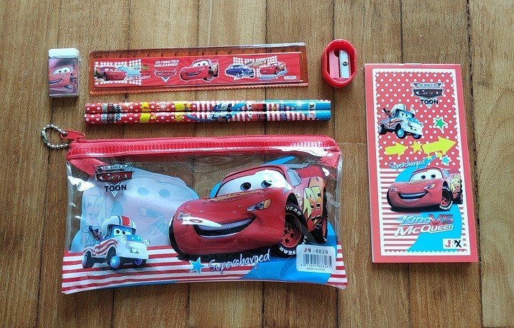 Disney Cars 7pcs stationary set