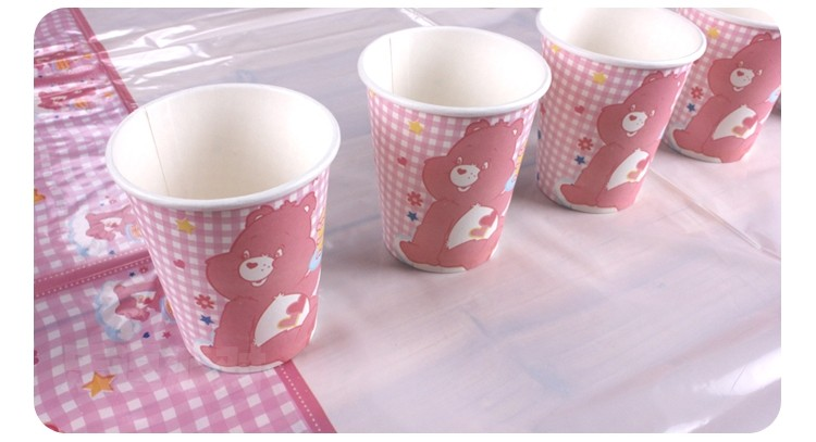 Care Bears Pink Paper Cups