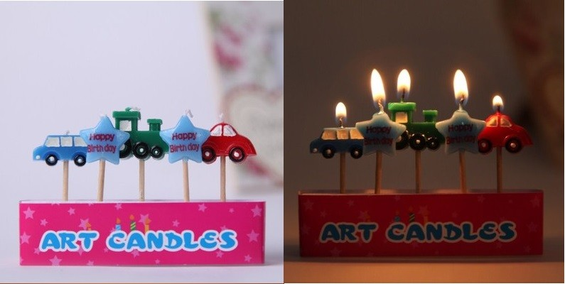 Cars Pick Candles Set