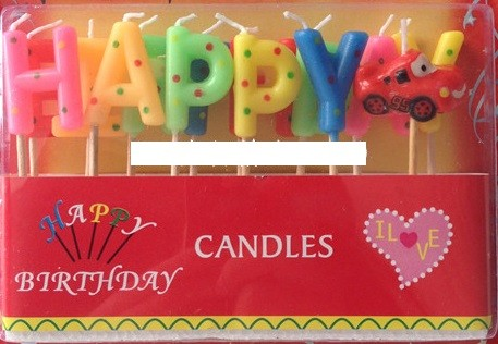 Cars Happy Birthday Candles