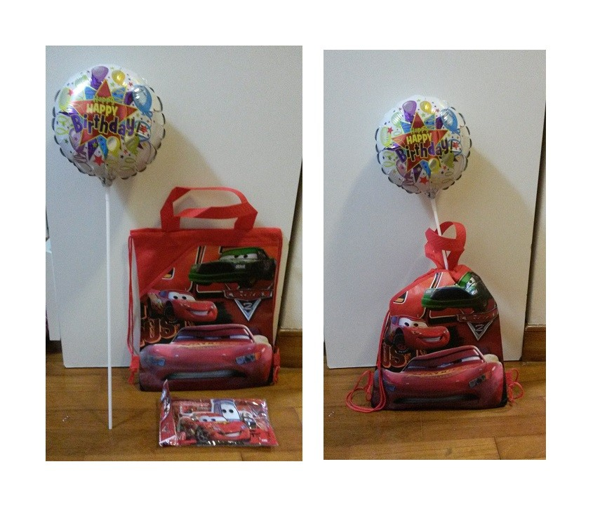 Disney Cars Favor Pack with Stick Balloon
