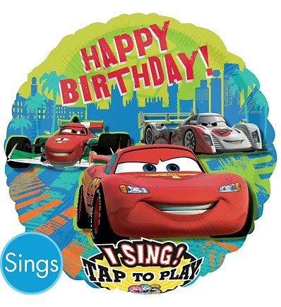 28in Disney Cars Singing Foil Balloon