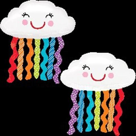 35in Colourful Cloud Foil Balloon