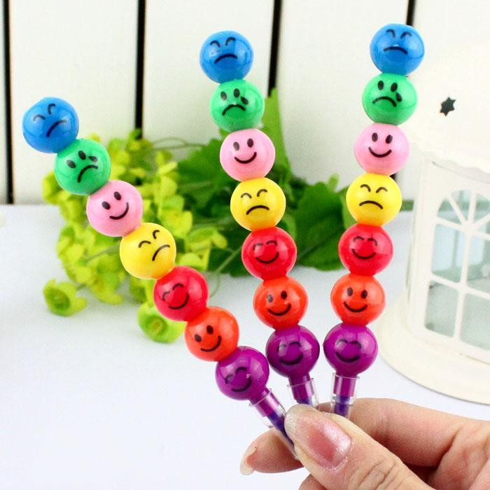 Funny Faces 7 Colours Colour Pencils 6pcs per pack