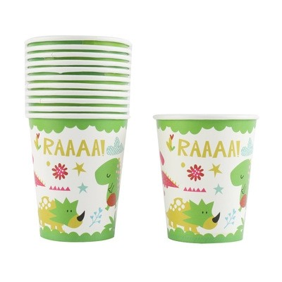 Dinosaur paper cups 12pcs per pack