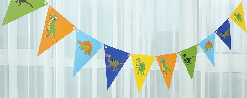 Dinosaur Flag Banner