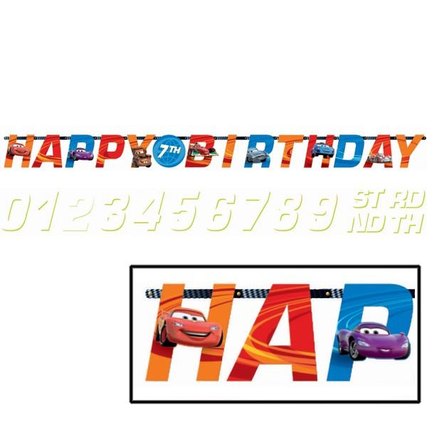 Disney Cars Add an Age Birthday Banner