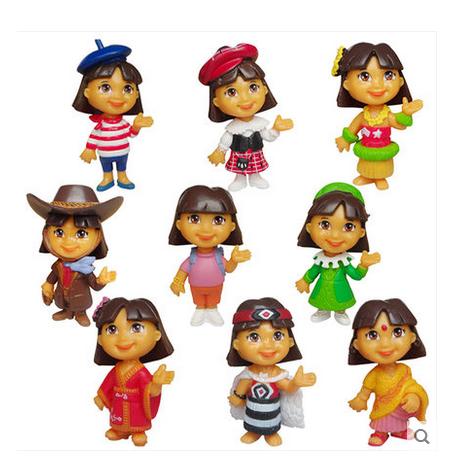 Dora Birthday Celebration Cake Kit (9pcs.) set