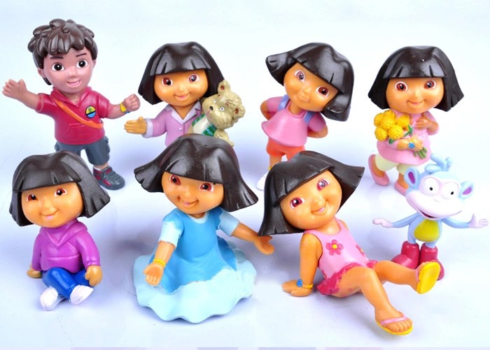 Dora and Diego Birthday Celebration Cake Kit (8pcs.) set