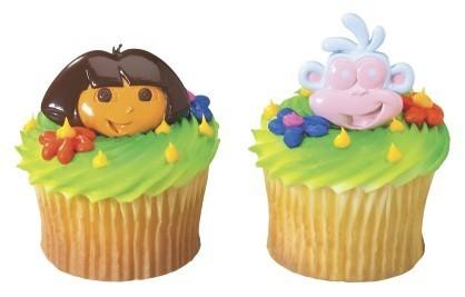 Dora & Boots Plastic Cupcake Rings