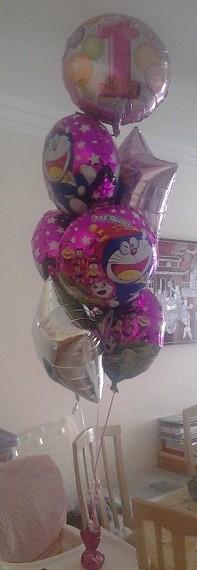 Doreamon 1st Birthday Balloon Bouquet