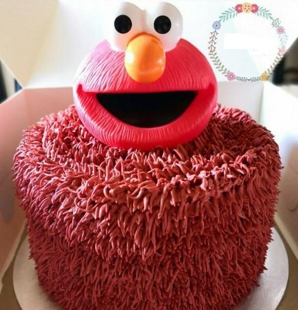 Elmo Head Cake Topper