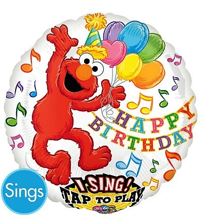 28in Elmo Singing Foil Balloon