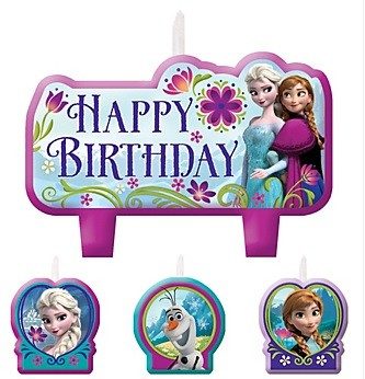 Frozen Birthday Candles 4pcs