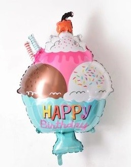 30in Happy Birthday Ice Cream Balloon