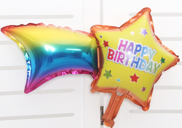 30in Shooting Star Birthday Balloon