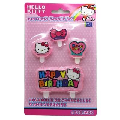 Hello Kitty Rainbow Candles 4pcs