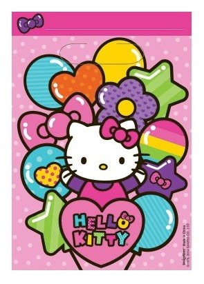 Rainbow Hello Kitty Favor Bags 8pcs