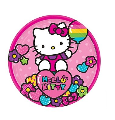 Rainbow Hello Kitty Dessert Plates 8pcs