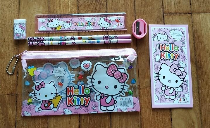Hello Kitty 7pcs stationary set