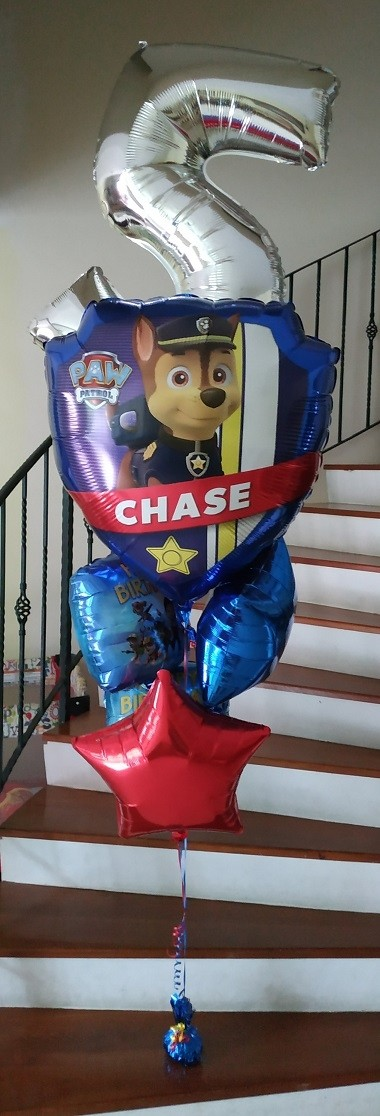 Paw Patrol Balloon Bouquet with number