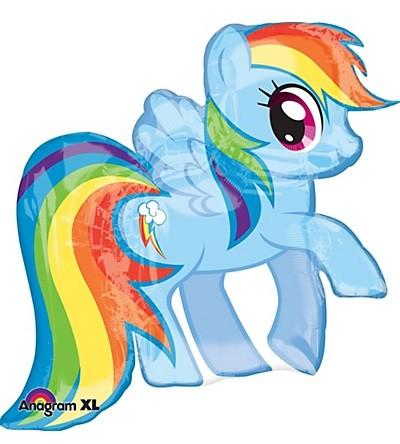 """38"""" My Little Pony Balloon - Rainbow Dash Foil Balloon"""