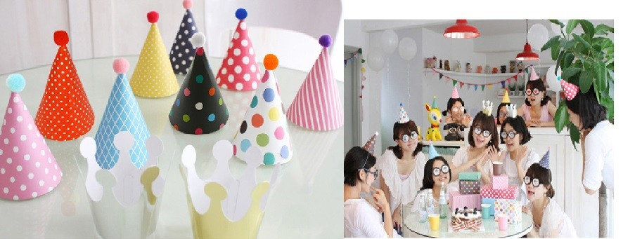 Korea style 11pcs Party Hats