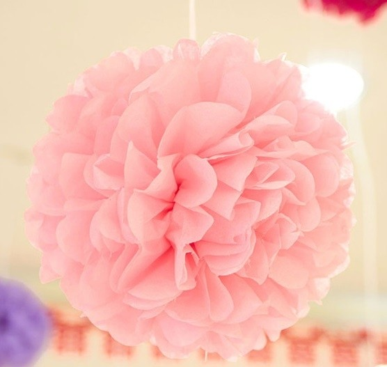 Pink Fluffy Ball Decorations