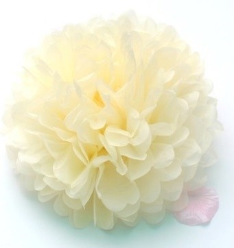 Light Yellow Fluffy Ball Decorations