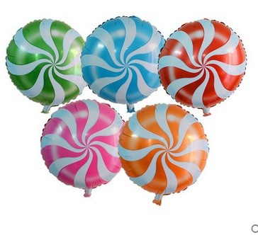 18in Lolipop Swirl Foil Balloon
