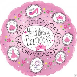 "18"" Happy Birthday Princess Balloon"