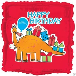 "18"" Dinosaurs Birthday Foil Balloon"