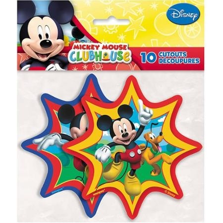 Mickey Mouse Club House Cutouts 10pcs