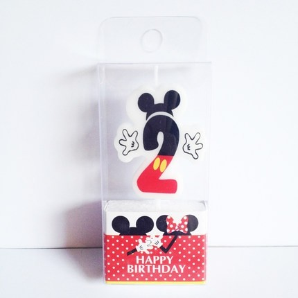 Mickey Mouse 2nd Birthday Candle