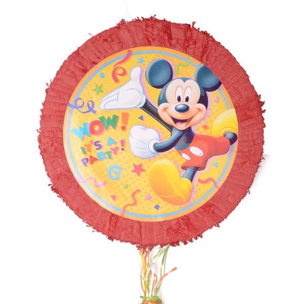 Mickey Mouse Party Pull String Piñata