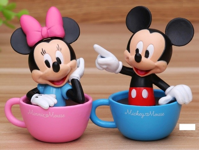 Mickey and Minnie Figurine Cake Topper